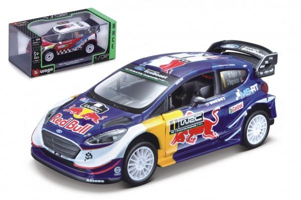Auto Bburago 1:32 Race Rally kov/plast mix druhů v plastové krabičce 16,5x7x9cm 12ks v boxu