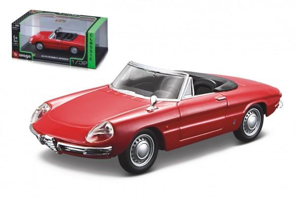 Auto Bburago 1:32 Classic kov/plast mix druhů v plastové krabičce 16,5x7x9cm 12ks v boxu