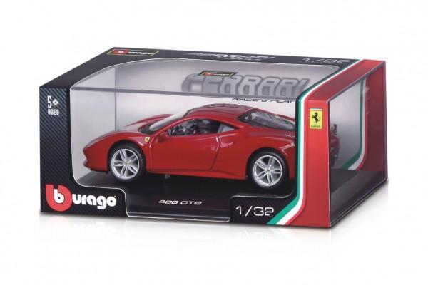 Auto Bburago 1:32 Ferrari Race & Play kov/plast mix druhů v krabičce 16,5x7x9,5cm 12ks v boxu