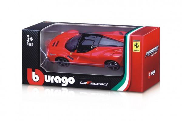 Auto Bburago 1:64 Ferrari Race & Play kov/plast mix druhů v krabičce 11x5x4,5cm 24ks v boxu