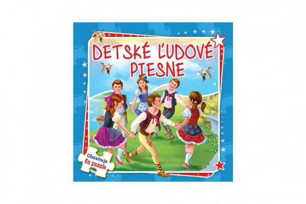 Puzzle kniha Detské ľudové piesne 17x17cm 6x9 dielikov SK verzia