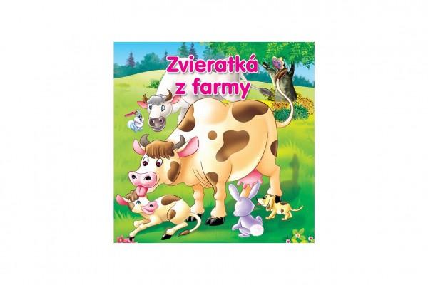 Kniha Zvieratká z farmy pre najmenších SK verzia 18x18cm