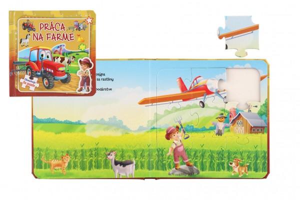 Puzzle kniha Práca na farme 17x17cm 6x9 dielikov SK verzia