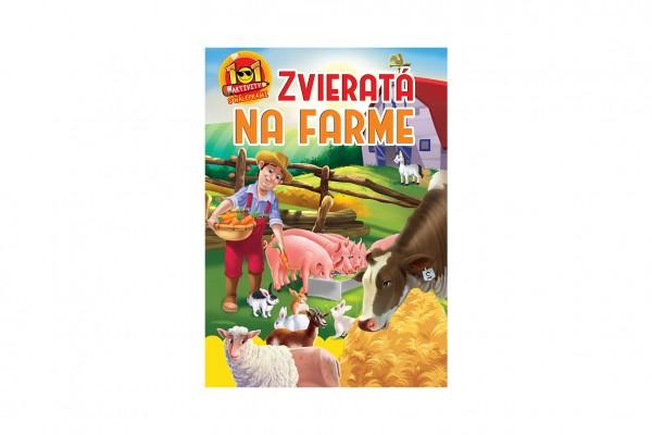 Aktivity Zvieratá na farme 101 so samolepkami SK verzia 21x30cm
