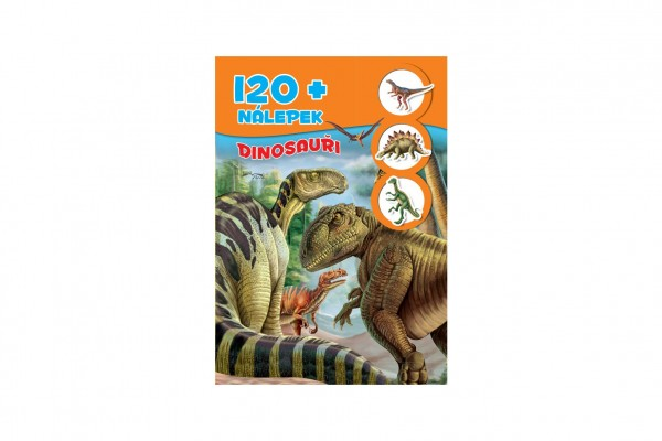 Kniha so samolepkami 120+ Dinosaury SK verzia 21x30cm