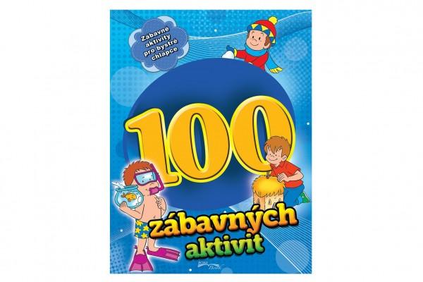 Pracovní sešit 100 zábavných aktivit-chlapci CZ verze 21x28cm