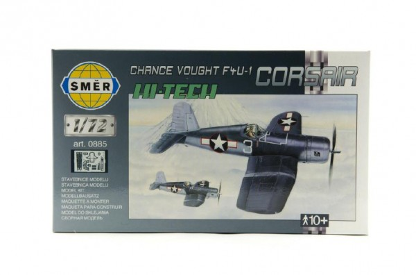 Model Chance Vought F4U-1 Corsair HI TECH 1:72 14,1x1,73cm v krabici 25x14,5x4,5cm