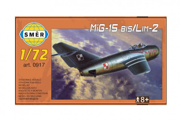 Model MiG-15 bis/Lim-2 1:72 15x14cm v krabici 25x14,5x4,5cm