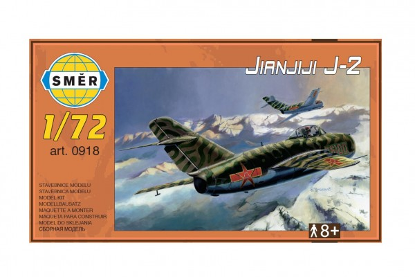 Model Jianjiji J-2  1:72 15x14cm v krabici 25x14,5x4,5cm