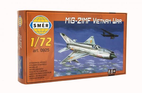 Model MiG-21MF Vietnam WAR 1:72 15x21,8cm v krabici 25x14,5x4,5cm