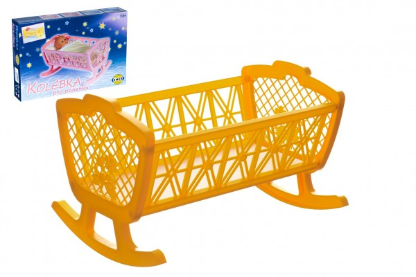 Kolébka pro panenky bez soupravy plast 47x35x30cm v krabici 48x32x8cm