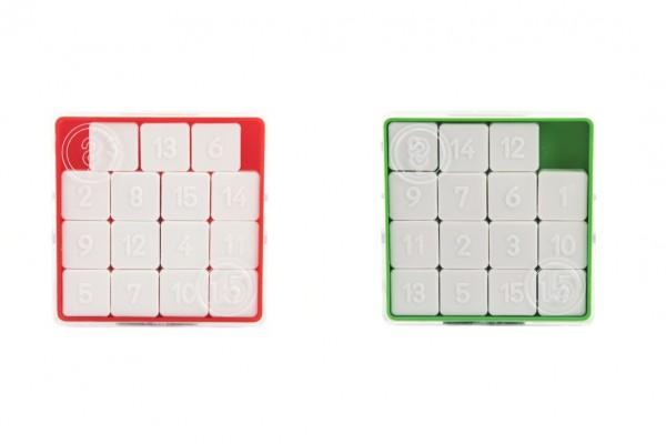 Hra 15 hlavolam přesouvačka plast 7,5x7,5cm