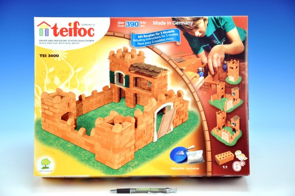 Stavebnice Teifoc Pevnost Anita 390ks v krabici 44x33x11cm