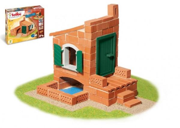 Stavebnice Teifoc Domek Miquel 110ks v krabici 35x29x8cm
