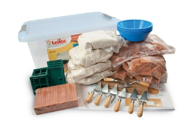 Stavebnice Teifoc School Set 320ks v plastovém boxu s úchyty 39x19x29cm