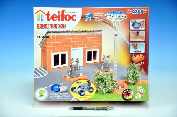 Stavebnice Teifoc Benzínka 200ks v krabici 35x29x8cm