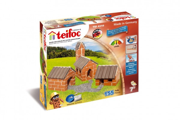 Stavebnice Teifoc Vesnice 155ks v krabici 35x29x8cm