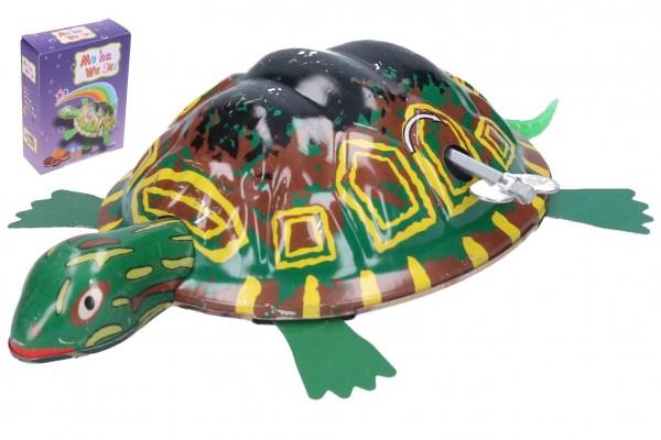 Želva na klíček kovová 8x12 cm v krabičce 9x12x3,5cm