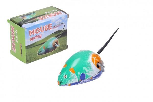 Myš na klíček kovová 7x5 cm v krabičce 5x7x3,5cm