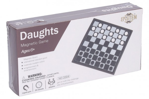 Dáma magnetická společenská hra v krabici 20x10x4cm
