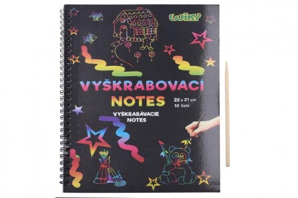 Škrabací/Vyškrabovací notes duhový 10 listů v sáčku 28x21cm