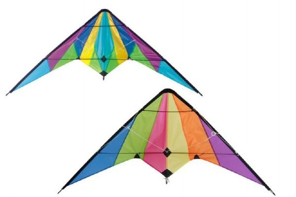 Drak létající nylon 160x80cm asst 2 barev v sáčku