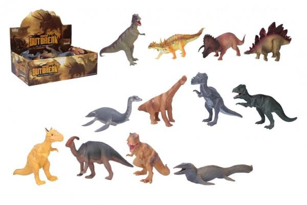 Dinosaurus plast 20-23 cm mix druhů 12ks v boxu
