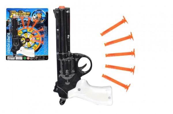 Pistole na přísavky plast 21cm na kartě 22x28x3cm