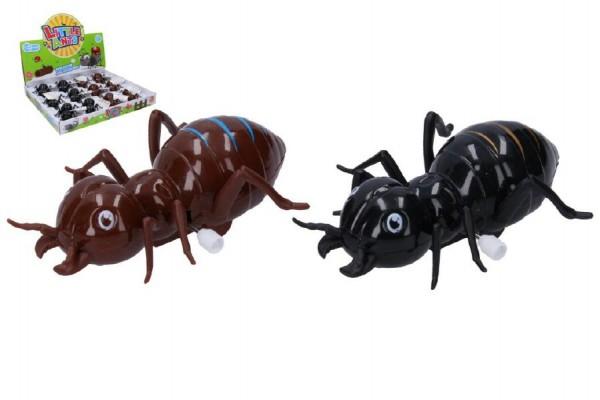 Mravenec na klíček plast 11cm asst 2 barvy 12ks v boxu