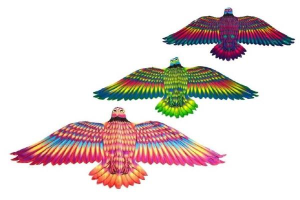 Drak létající Orel 132x59cm asst 3 barvy v sáčku
