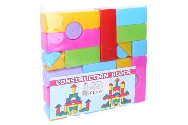 Kostky stavebnice 24ks plast v sáčku 24x24x4cm