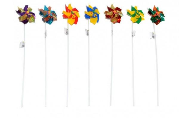 Větrník 42cm průměr 10cm asst 4 barvy