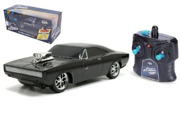 Auto RC zrychlující plast 20cm na baterie 2,4Ghz v krabici 27x12x11cm
