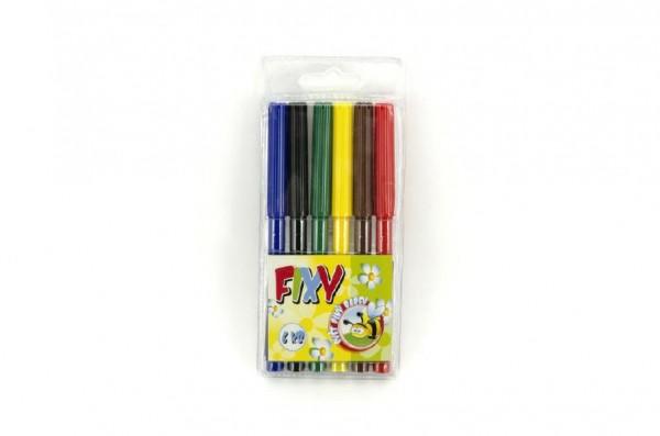 Fixy 6ks v plastové krabičce 7x16cm