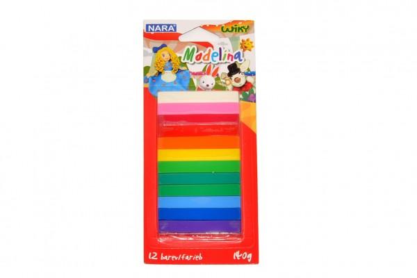 Modelína/Plastelína 12 barev 140g na kartě