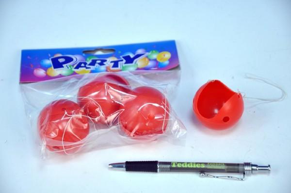 Klaunský nos karneval na gumičce  4cm 6ks v sáčku
