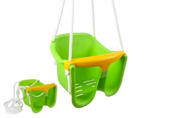 Houpačka Baby zelená plast 33x30x28cm nosnost 25kg v síťce 12m+