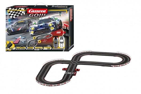 Autodráha Carrera GO!!! 62521 Onto the podium 3,6m + 2 auta v krabici 58x40x8cm