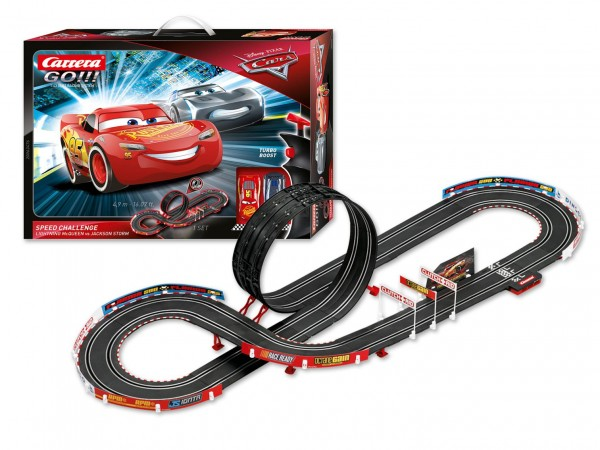 Autodráha Carrera GO!!! 62476 Auta/Cars-Speed Challenge 4,9m + 2 auta v krabici 58x40x10cm