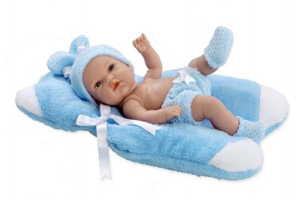Panenka/miminko Arias vonící 33cm modré pevné tělo v krabici