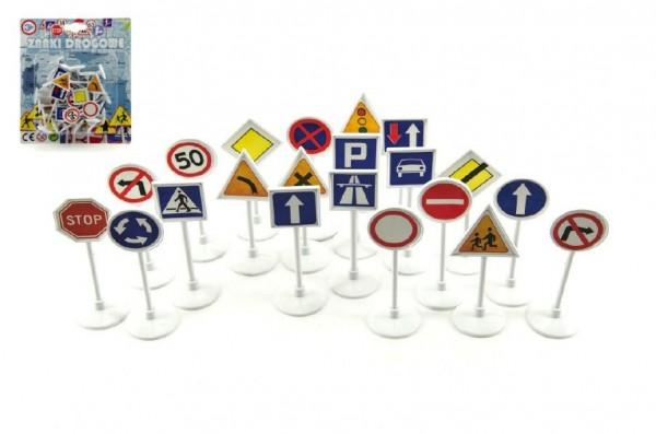 Dopravní značky plast 7cm na kartě