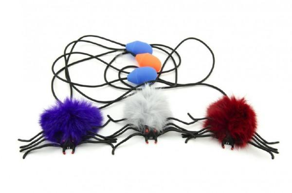 Pavouk skákající plyš/plast 7cm mix druhů v sáčku