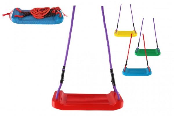 Teddies Houpačka/Houpací prkénko plast 43x17cm nosnost 25kg 4 barvy v síťce
