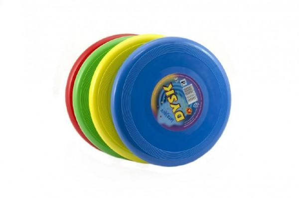 Létající talíř plast průměr 26cm asst 4 barvy