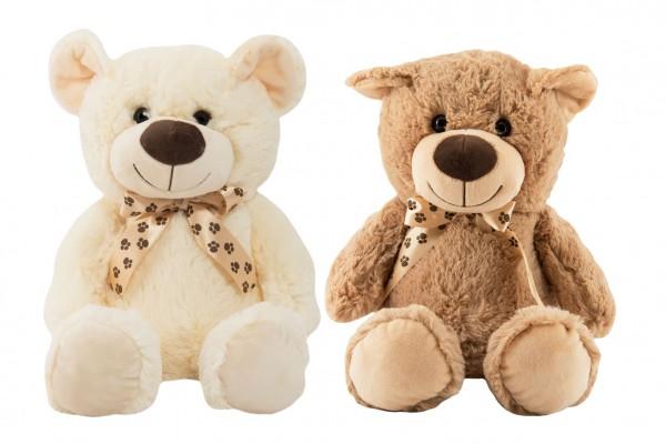 Medvěd s mašlí plyš 48cm 2 barvy 0m+