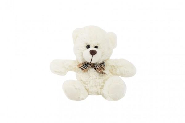 Medvěd sedící s mašlí plyš 18cm 0+