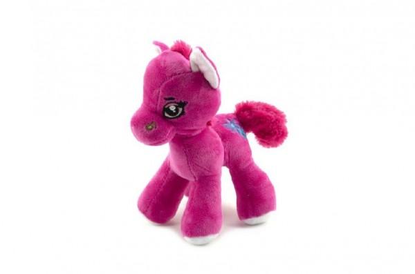 Kůň/koník plyš barevný 20cm 0+