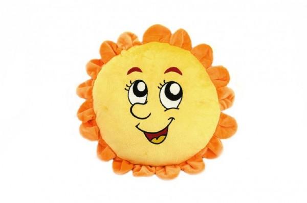 Sluníčko s obličejem plyš 42cm v sáčku 0+