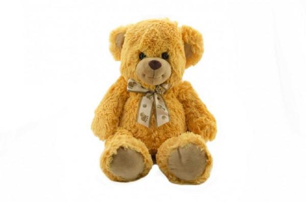 Medvěd s mašlí plyš 50cm v sáčku 0+