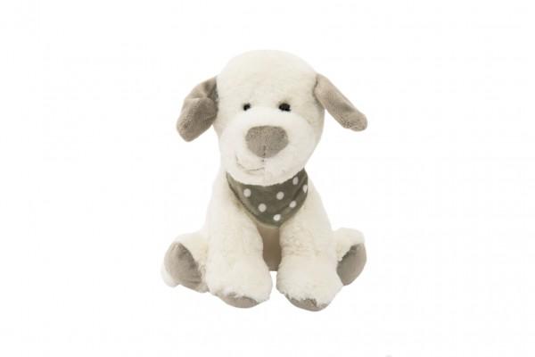 Pes se šátkem sedící plyš 24cm v sáčku 0+